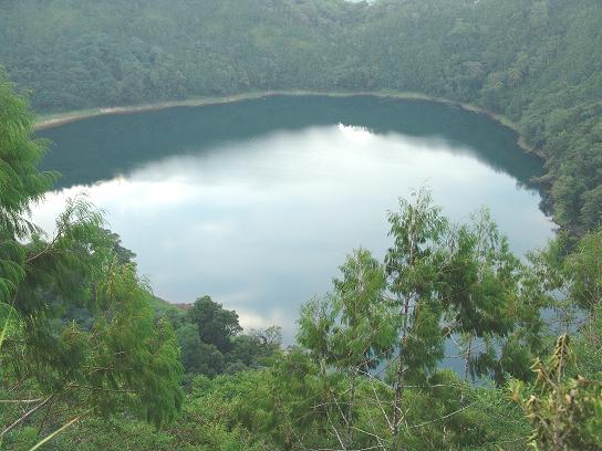 Pung - a crater lake on Umboi Island in Papua New Guinea