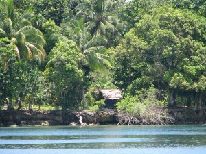 haus long nambis (house at the beach) in Madang Province, Papua New Guinea