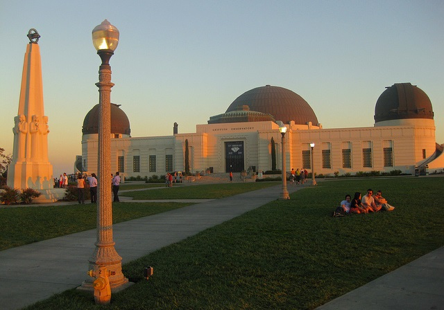 In Griffith Park in Los Angeles, California: the observatory at twilight - photo by Bossco