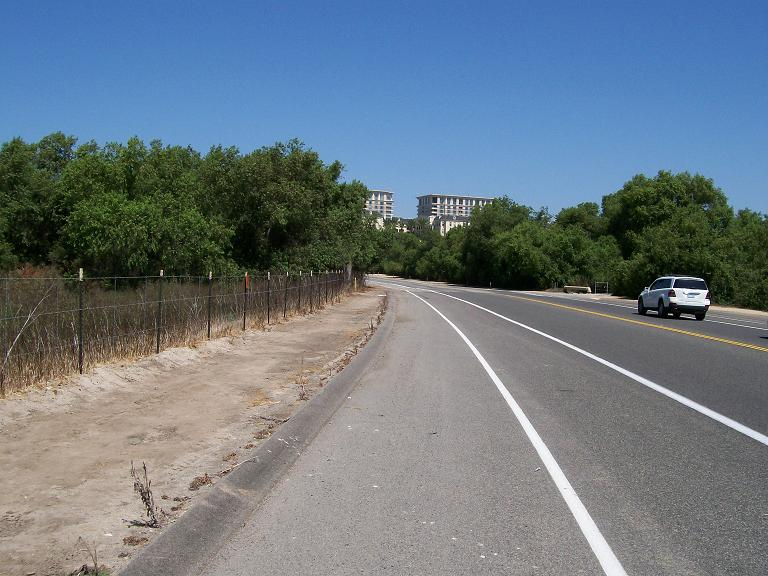 road leading to Cal State Irvine, California