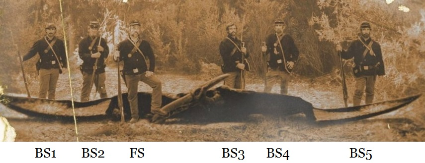 distances from soldier to camera in Ptp photograph